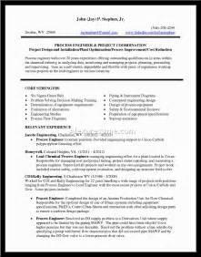 resume sles for engineers best chemical engineer resume exle resume template school resume chemical engineer