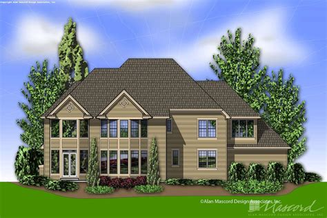 Colonial House Plan 2439 The Harwood: 5279 Sqft 5 Beds 4