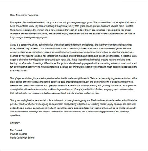 recommendation letter templates  sample format