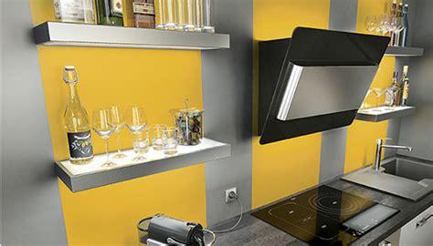 cuisine gris jaune aménagement décoration cuisine gris et jaune
