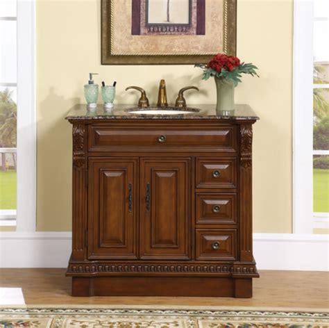 38 inch single sink bathroom vanity with granite counter