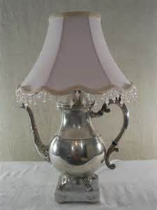 Where Can I Buy Lamp Shades by Vintage Silver Plated Teapot Lamp Repurposed Upcycled