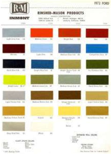 1998 ford ranger paint color options