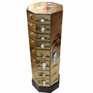 Meuble Colonne Tiroir : colonne chinoise laqu e 8 tiroirs meuble chinois laqu ~ Teatrodelosmanantiales.com Idées de Décoration