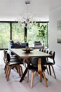 meubles bois massif assortis au parquet et salles de bains With meuble salle À manger avec chaise blanche en bois