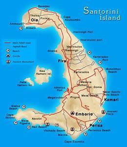 Santorini Maps, maps of Santorini,Santorini villages maps