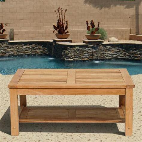 sawarna teak outdoor coffee table world market