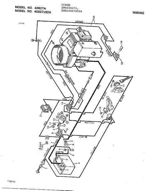 wiring diagram parts list  model xa murray