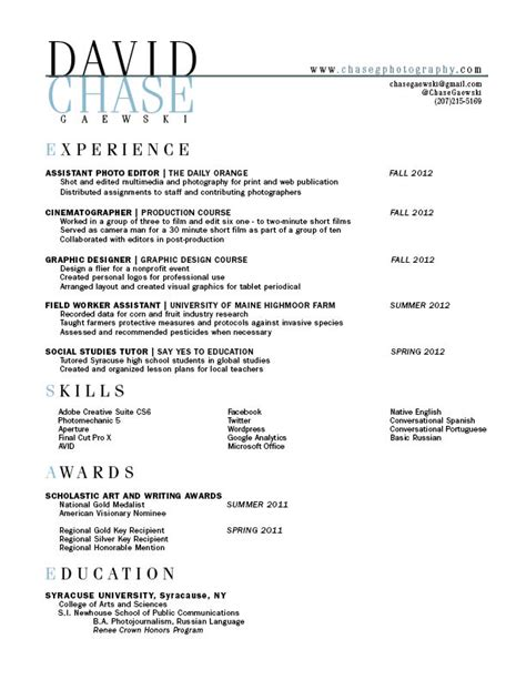 Resume Drafts by The Greatest Gra 217 Class Page 11