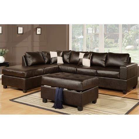 Poundex 3pc Sectional Sofa Set by Features