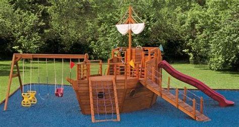 Backyard Pirate Ship Plans by Pirate Ship Playground Set Twirly Whirly