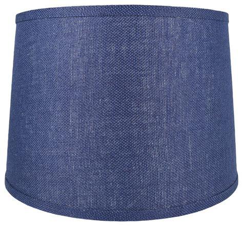 urbanest blue burlap drum lshade urbanest drum burlap lshades contemporary