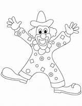 Clown Coloring Clowns Printable Gangster Template Popular Templates Preschoolers Coloringhome sketch template
