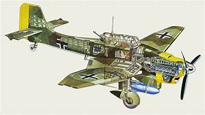 Junkers Ju 87 Stuka Cutaway Drawing In High Quality