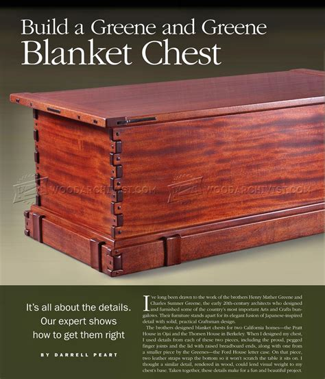 blanket chest plans woodarchivist