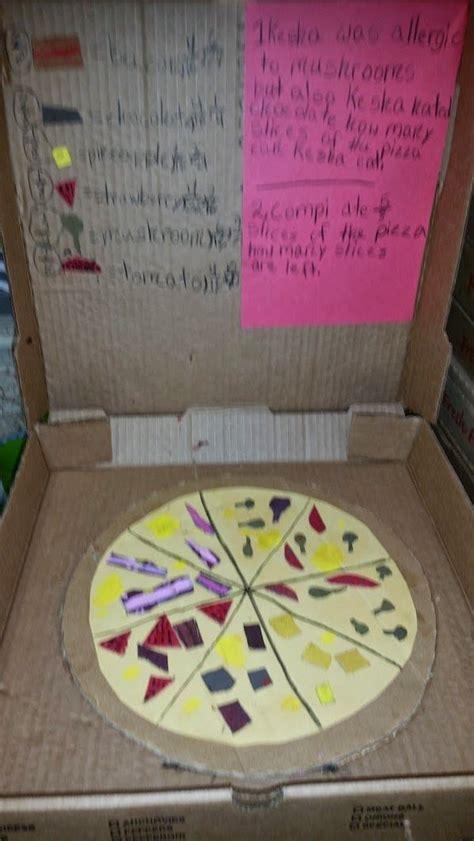 pizza fractions fractions  grade frolics