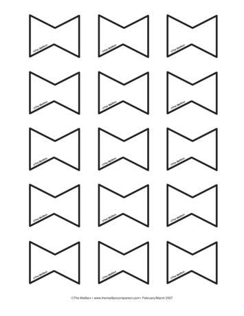 bows lesson plans  mailbox templatespatterns
