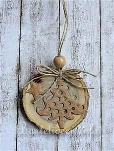 Weihnachtsbasteln Aus Holz : weihnachtsbasteln mit holz nat rliche weihnachtsbaumanh nger aus baumscheiben 2 ~ Orissabook.com Haus und Dekorationen