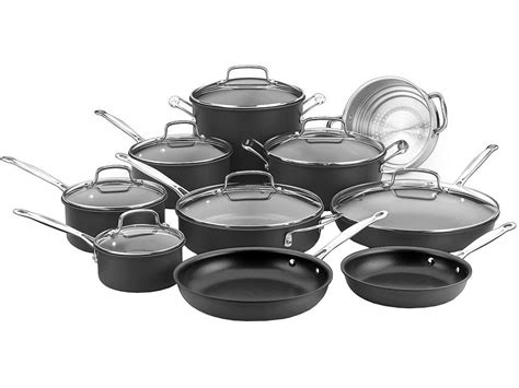 cookware cuisinart hard anodized piece 17n sets roll zoom