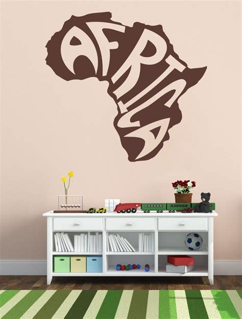 20% off with code easterweeknd. Housewares Vinyl Decal Stylized Africa Map Home Wall Art ...