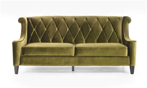 Barrister Retro Sofa In Midcentury Modern Green Velvet