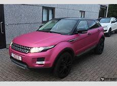 Range Rover Evoque matte metallic pink Wrap My Ride