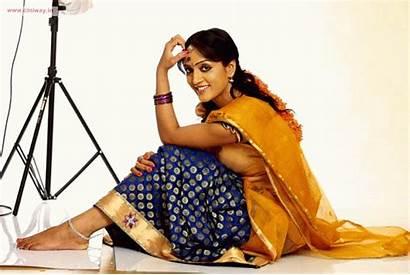 Telugu Divya Singh Latest Actress Saree Half