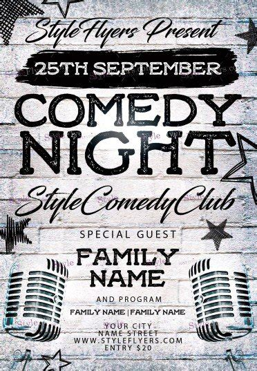 Comedy Template Poster by Comedy Night Psd Flyer Template 11727 Styleflyers