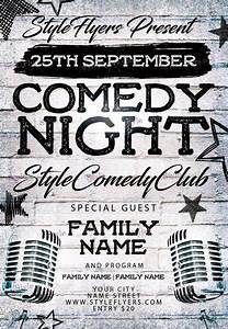 comedy night psd flyer template 11727 styleflyers With comedy night poster template