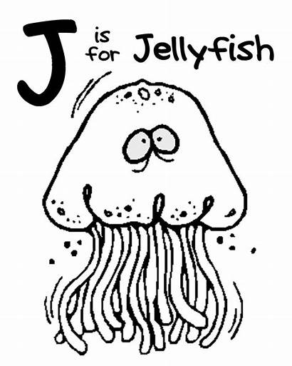Jellyfish Letter Printables Being Coloring Printable Pages