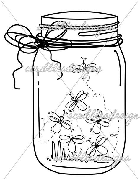 Scribbles Designs: #8102 Firefly Mason Jar ($3.00) | Mason jar tattoo, Jar art, Firefly mason jars