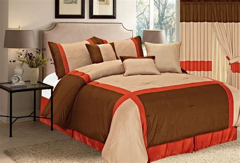 orange comforter set bright to burnt orange and brown comforter bedding sets