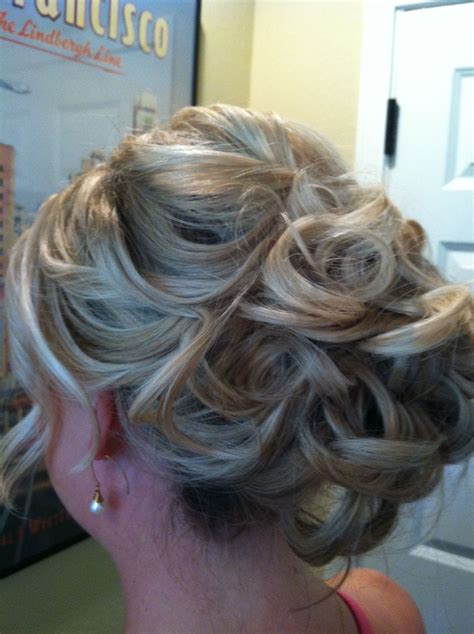 Updo with loose curls Hair styles Wedding hairstyles