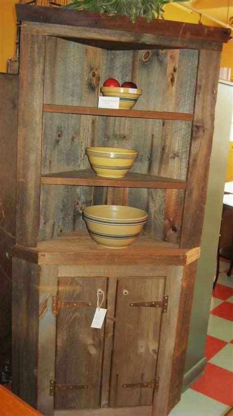 rustic corner china cabinet build corner hutch woodworking projects plans
