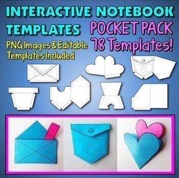 clam shell templates lapbook interactive notebook templates easy to cut pocket pack
