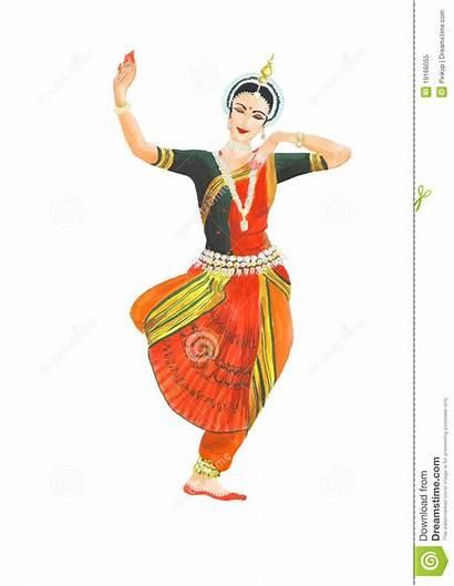 Dance Indian Clipart Classical Female Dancer Dancing