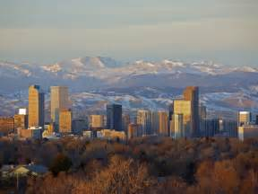 Denver Colorado Skyline Mountains