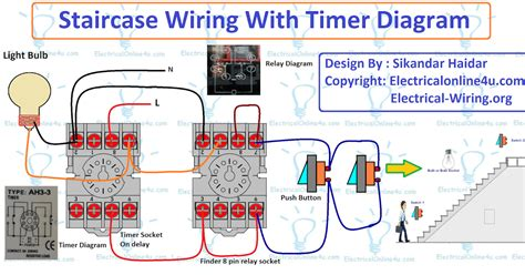 Staircase Timer Wiring Diagram Using Delay