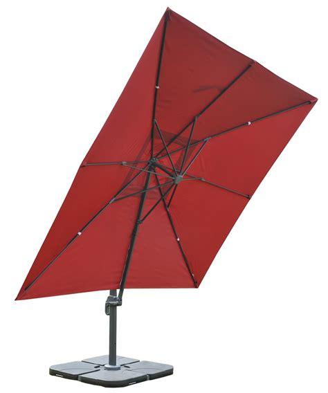 sombrilla parasol apolo con soporte de 3 x 3 metros color burdeos ajustable de suelo