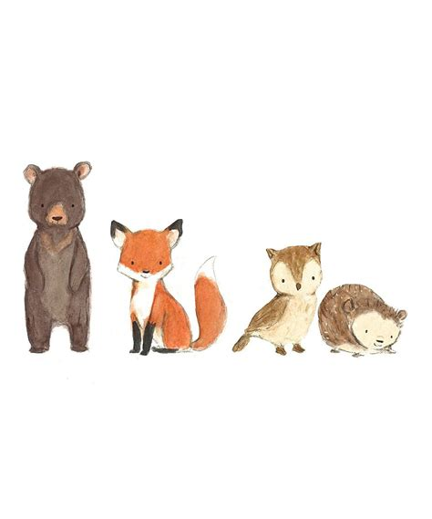 woodland friends decal crafts animal drawings