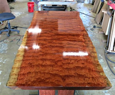 Custom Made Live Edge Bubinga Dining Table   Tables   Pinterest   Tables, Woods and Woodwork
