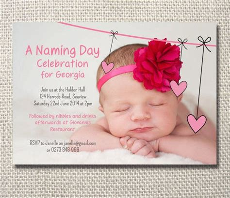 naming ceremony invitations psd ai  premium