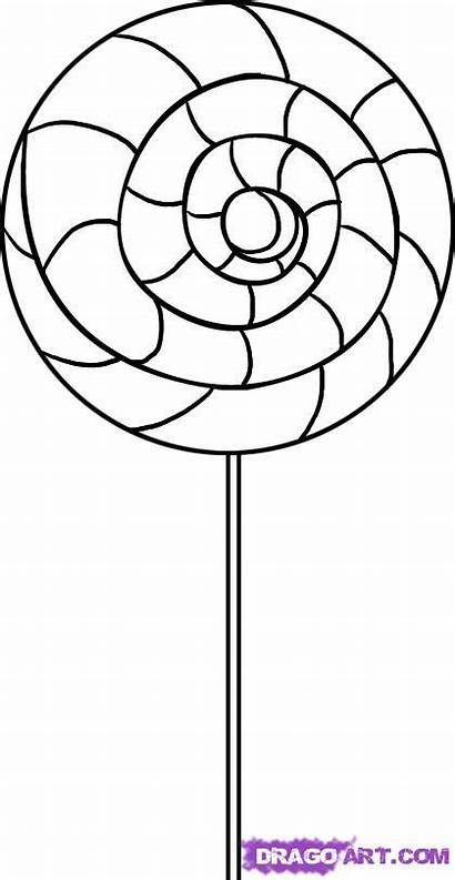Draw Lollipop Coloring Pages Drawing Lollipops Swirl