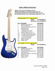 Download Free Pdf For Squier Affinity Strat  Maple  Guitar