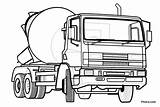 Coloring Truck Cement Mixer Police Helicopter Concrete Lorry Colouring Cars Pitara Rescue Monster Drawing Clipart Ford Transportation Pickup Coloringpagesonly Transport sketch template