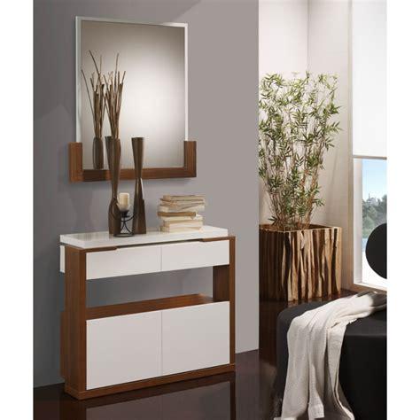 meuble d entree miroir meuble d entr 233 e blanc noyer miroir jungo univers petits meubles
