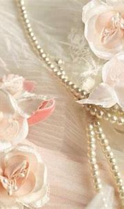 Luxurious 3D Pink Silk Flowers Pearls Lace and Butterflies ...