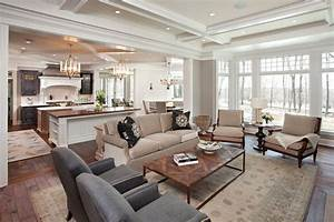 Small Open Plan Kitchen And Living Room Living Room
