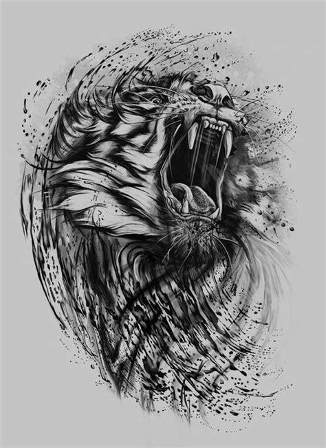 Tiger Grey - Kamila Sharipova | Tattoos | Tattoo artists, Lion tattoo, Tiger tattoo