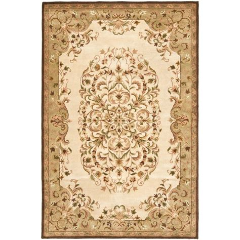 5 8 Area Rugs by Safavieh Heritage Beige Green 5 Ft X 8 Ft Area Rug